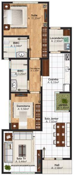 Planos para vivienda de 15 metros de largo por 8 metros de ancho ...