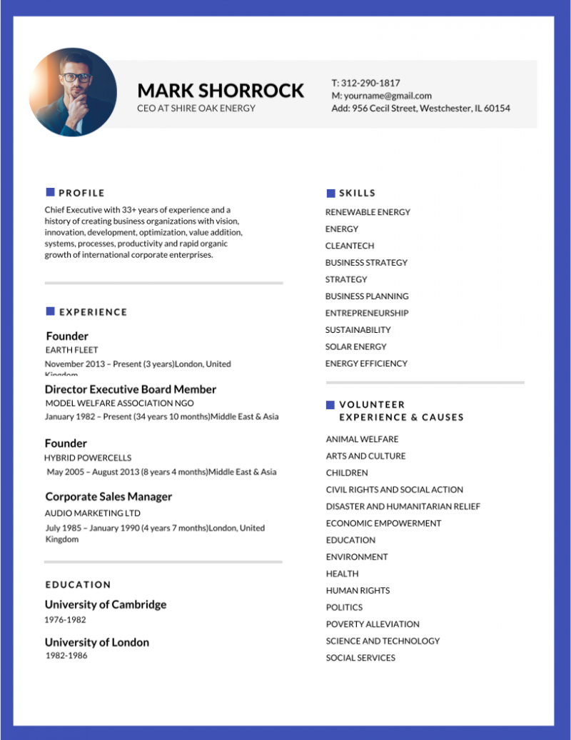 50+ Most Professional Editable Resume Templates for Jobseekers ...