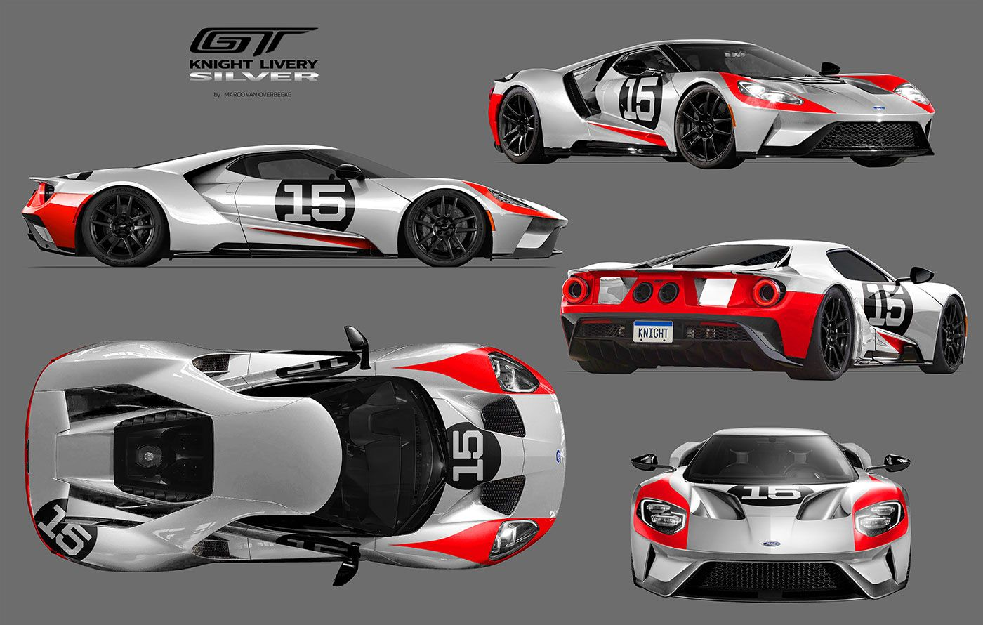 2017 Ford Gt Custom Liveries Knight Livery With Images Ford Gt