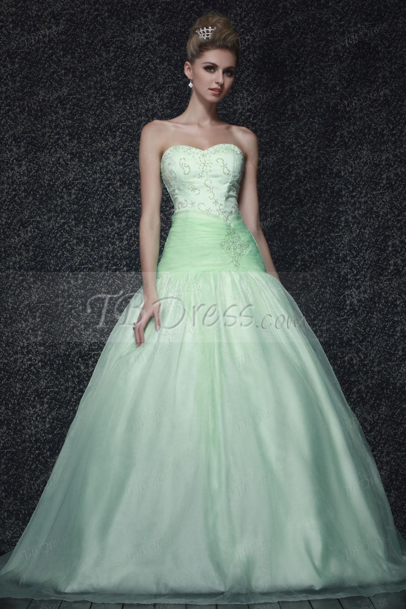 Ball Gown Long Sweetheart Beading Laceup Dasha's