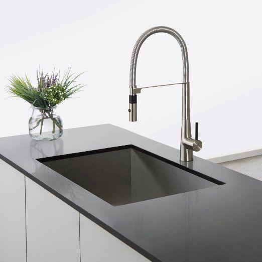 Kraus KPF-2730SS Modern Crespo Single Lever Commercial Style Kitchen ...