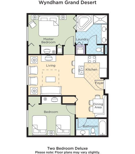 Wyndham Grand Desert Floor Plans View Our Two Bedroom Deluxe Floorplan