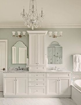 Photo of Lovely White – traditional – Bathroom – Raleigh – The Kitchen Studio, Inc #Bathr…