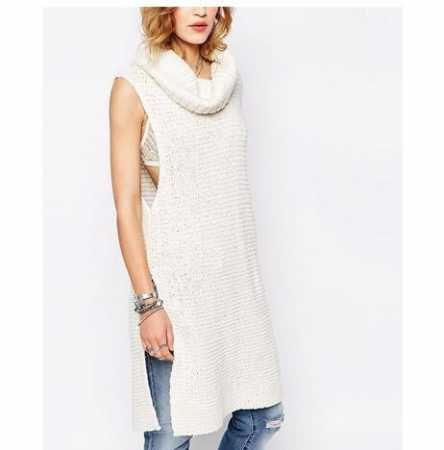 womens cowl neck sweater for winter pullover long sweater vest ...