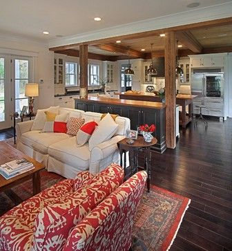 Modern Farmhouse Contemporary Living Room Other Metro Kdw Home Ki Craftsman Living Rooms Living Room And Kitchen Design Contemporary Living Room Design