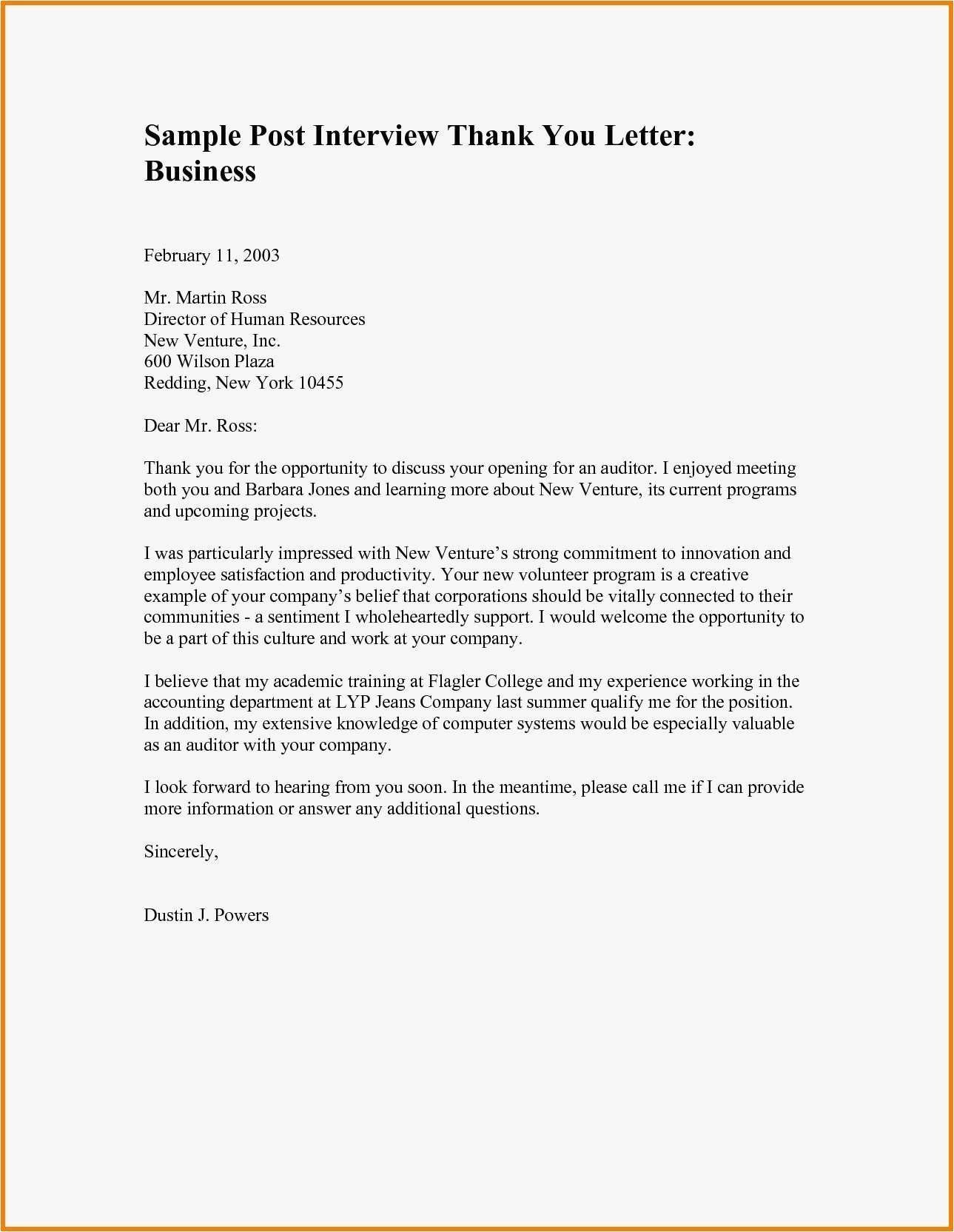 Valid Thank You For Your Business Letter Template Thank You