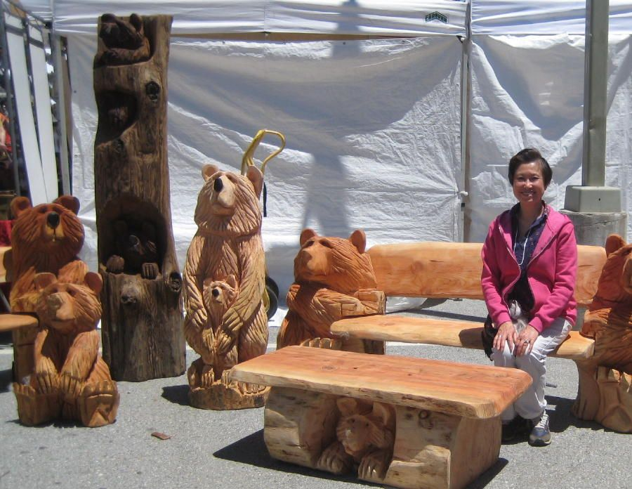 Chainsaw carving betty enjoys these chain saw carved