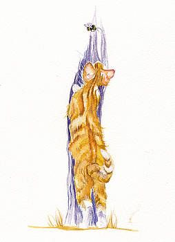 Bee Stretched by Debra Hall #gingerkitten
