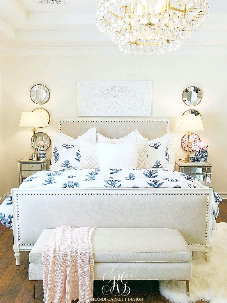 blue pink and white bedroom  randi garrett design  blue