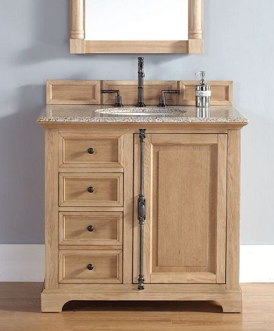 Unfinished Solid Wood Bathroom Vanities From James Martin Furniture Wood Bathroom Vanity Wood Bathroom Cottage Style Bathrooms