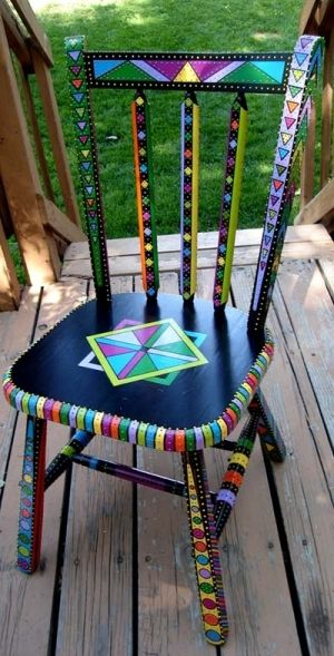 Painted Chair by bobbijo.p.brown