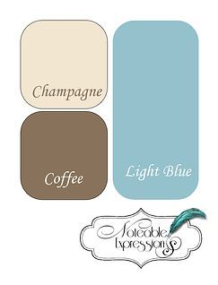 Brown Champagne Blue Color Palette The Light Blue Matches The