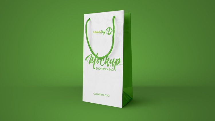 Download Free Shopping Bag Psd Mockup In 4k Download Bag Mockup Free Shopping Shopping Bag Design