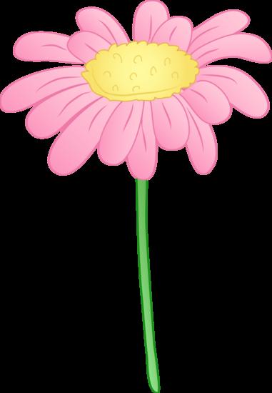 Pretty Pink Daisy Flower Cartoon Flowers Flower Clipart Flower Clip