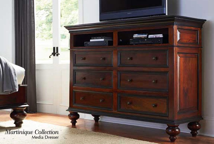Media Cabinet/Dresser Combo for the bedroom.. great idea! Martinique ...