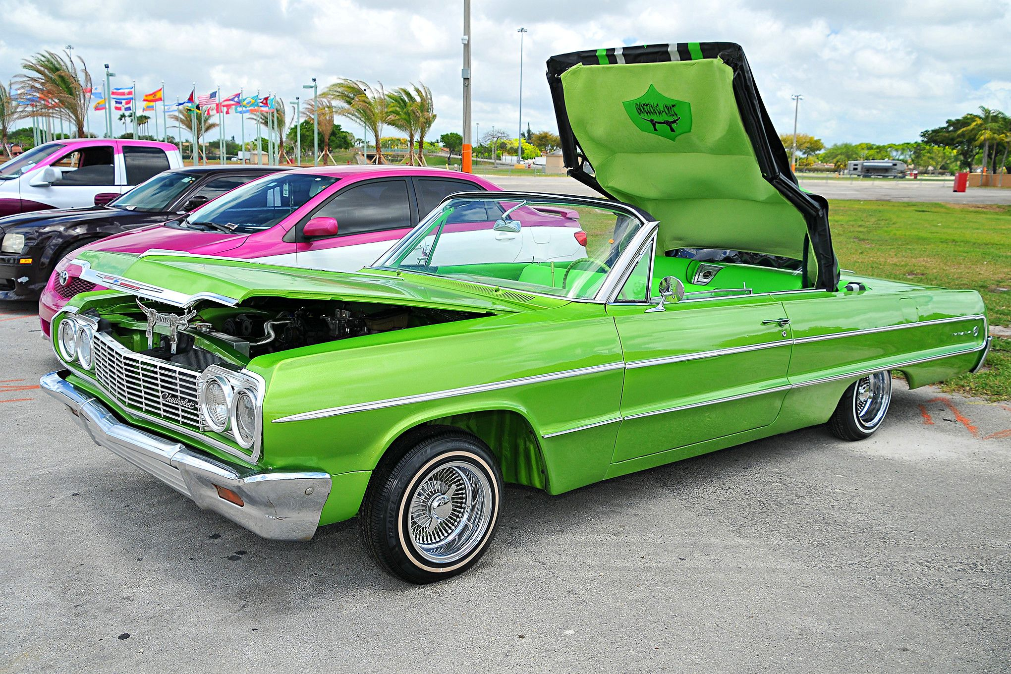 1956 chevy bel air dynomite classic muscle car for sale in - Lime Green 1964 Impala 2017 Miami Lowrider Super Show