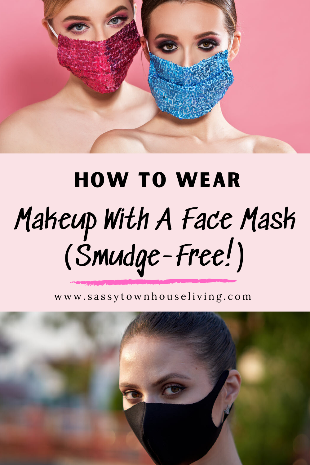 How To Wear Makeup With A Face Mask Smudge Free In 2020 How To Wear Makeup Mask Makeup Leather Face Mask