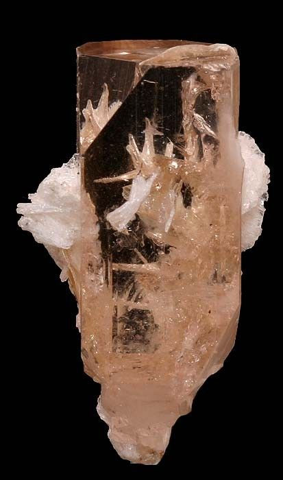 Topaz with Albite - Pakistan Topacio con Albita - Pakistan.