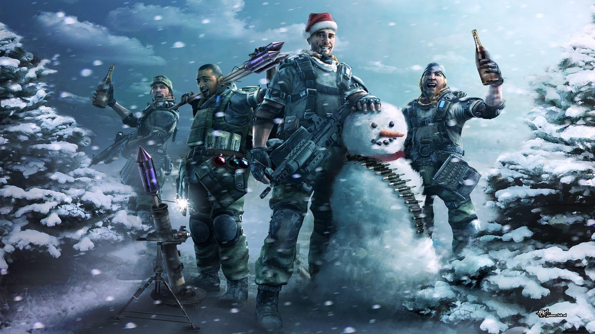 Adorable Killzone Snowman Soldiers Joy Snow Wallpaper Wallpaper ...