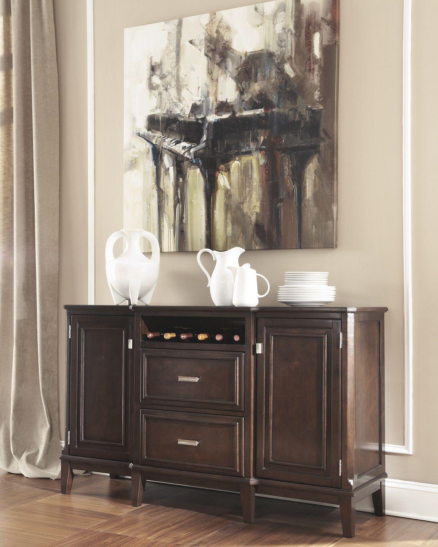 Home Decor Liquidators Memphis: Larimer Contemporary Server In Dark Espresso $918.90