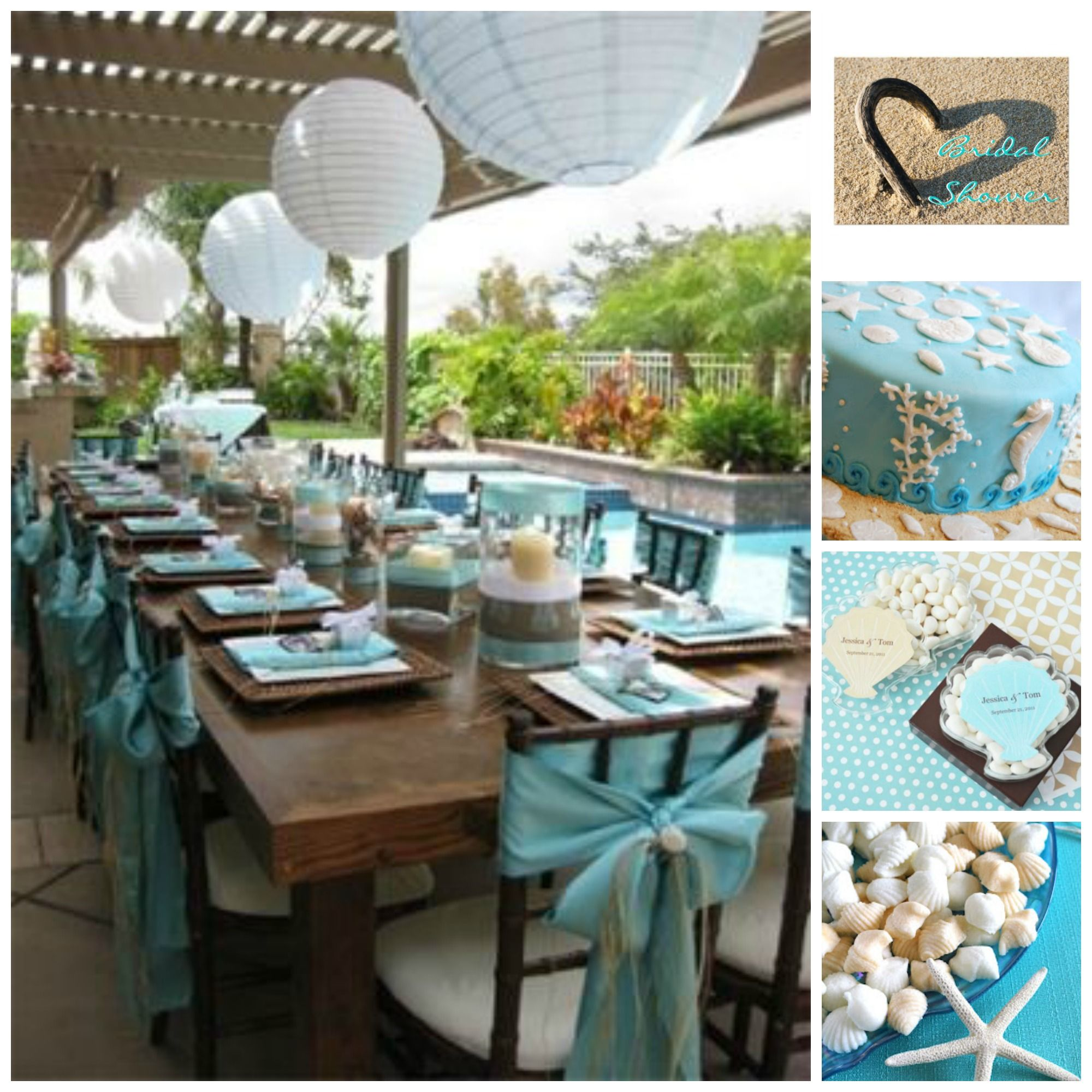 Gorgeous Beach Bridal Shower Inspiration Board On 3d Memoirs Stop By To
