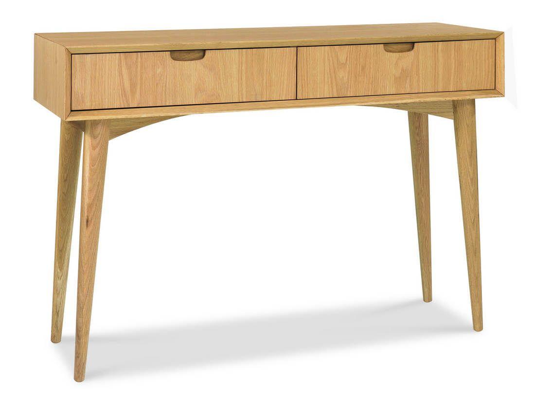 Retro Scandinavian Oak Console Table 115cm x 37cm x 78cm Modern ...