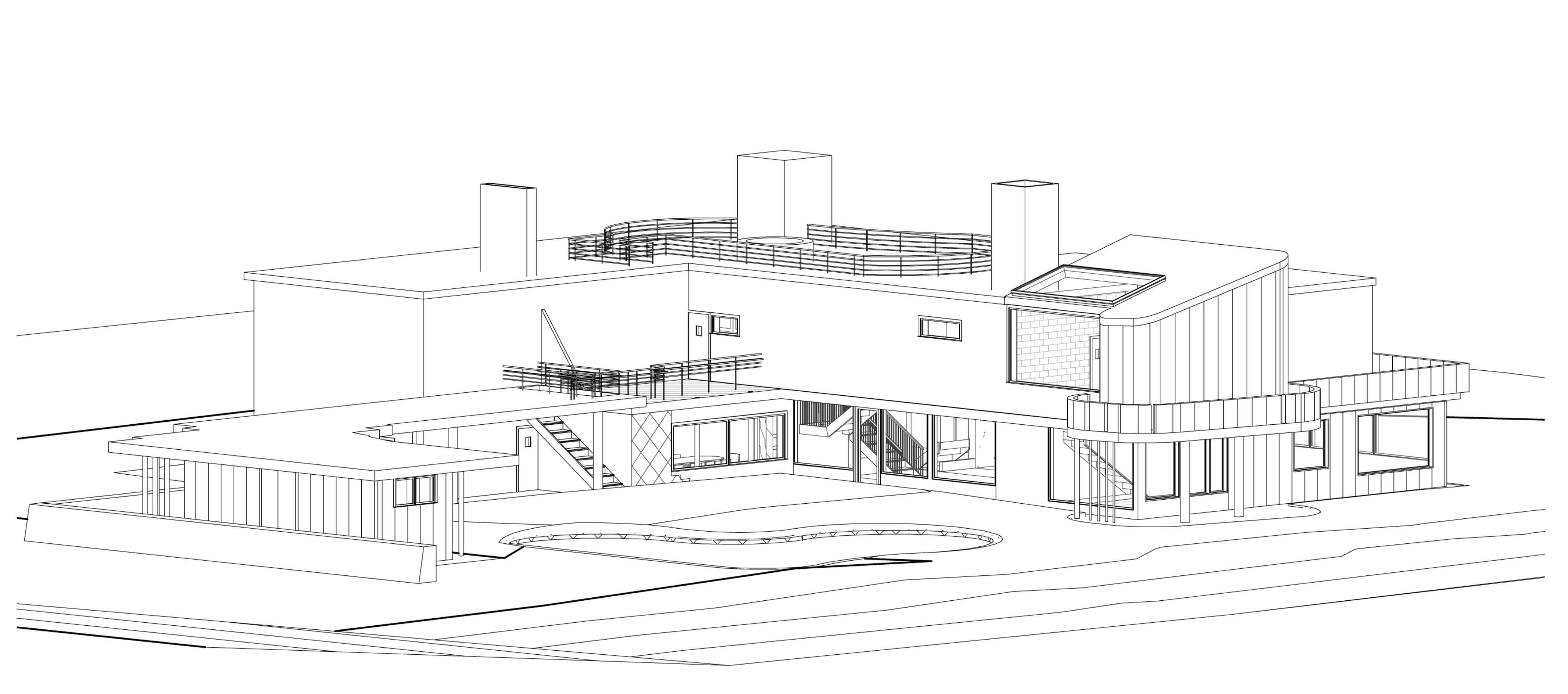 Alvar Aalto Villa Mairea 1938 39 Axonometric View