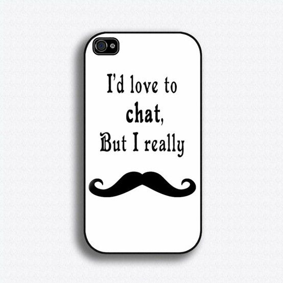 Mustache Moustache - iPhone 4 Case, iPhone 4s Case, iPhone 4 Hard Case, iPhone Case for $17.99 at etsy.com by deloris