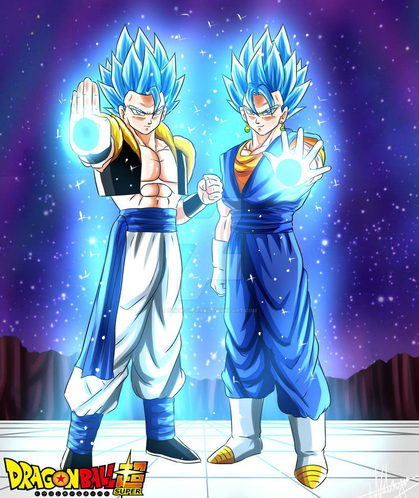 Gogeta And Vegetto Ssj Blue By Surgeon Art Dragon Ball Desenho