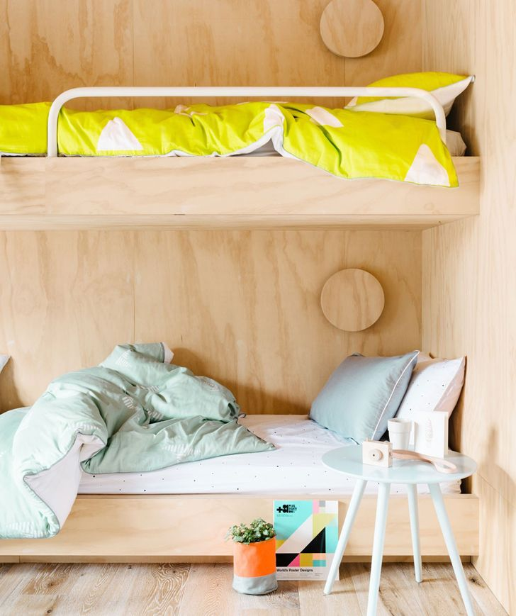 Literas infantiles con estilo minimalista home kids - Habitacion con litera ...
