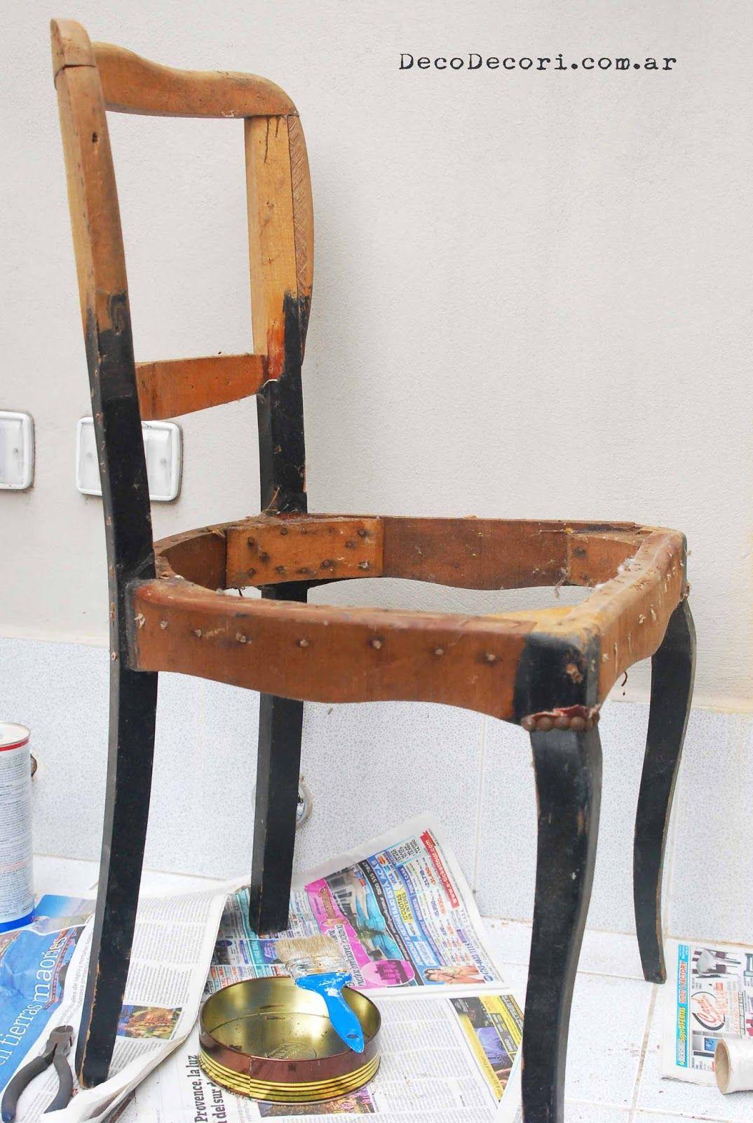 Retapizar una silla paso a paso deco decori silla - Tapizar una silla ...