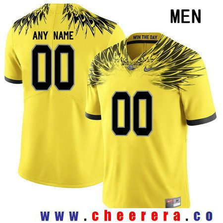 Men S Oregon Duck Custom College Football Electric Lightning Nike Limited Jersey Yellow Jersey College Football Sports Jersey