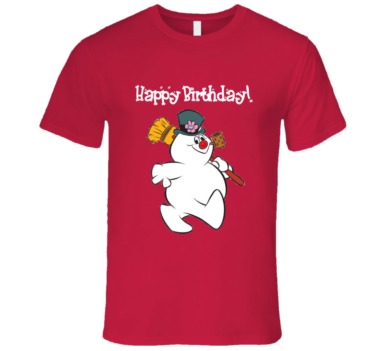 Frosty The Snowman Happy Birthday Christmas Graphic T