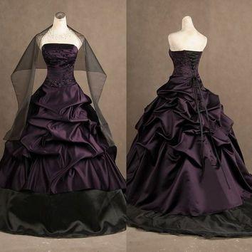 Shop Black And Purple Gothic Wedding on Wanelo | Prom | Pinterest ...