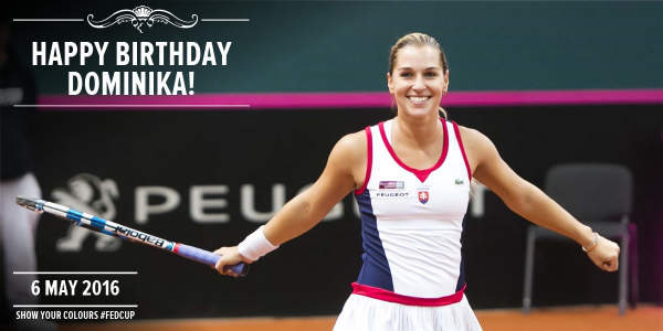 5/6/16 Via Fed Cup  ·    Celebrating her 27th birthday with a semifinal win @MutuaMadridOpen! Happy birthday and congrats @Cibulkova!