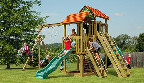 For Affordable Amish Made Swingsets Visit The Champcraft Store In
