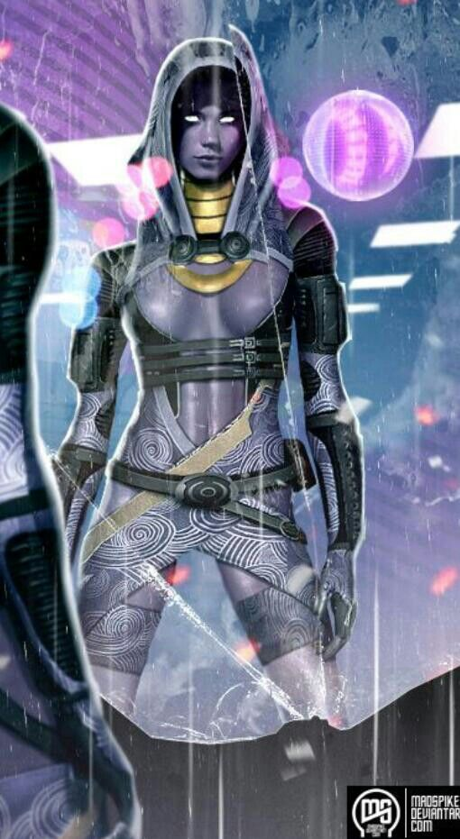 Tali'Zorah by MadSpike on deviantArt