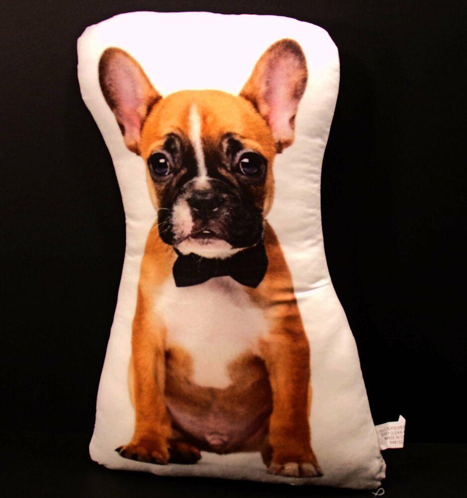 Adorable French Bulldog Puppy Dog Pillow Fashion Home Garden