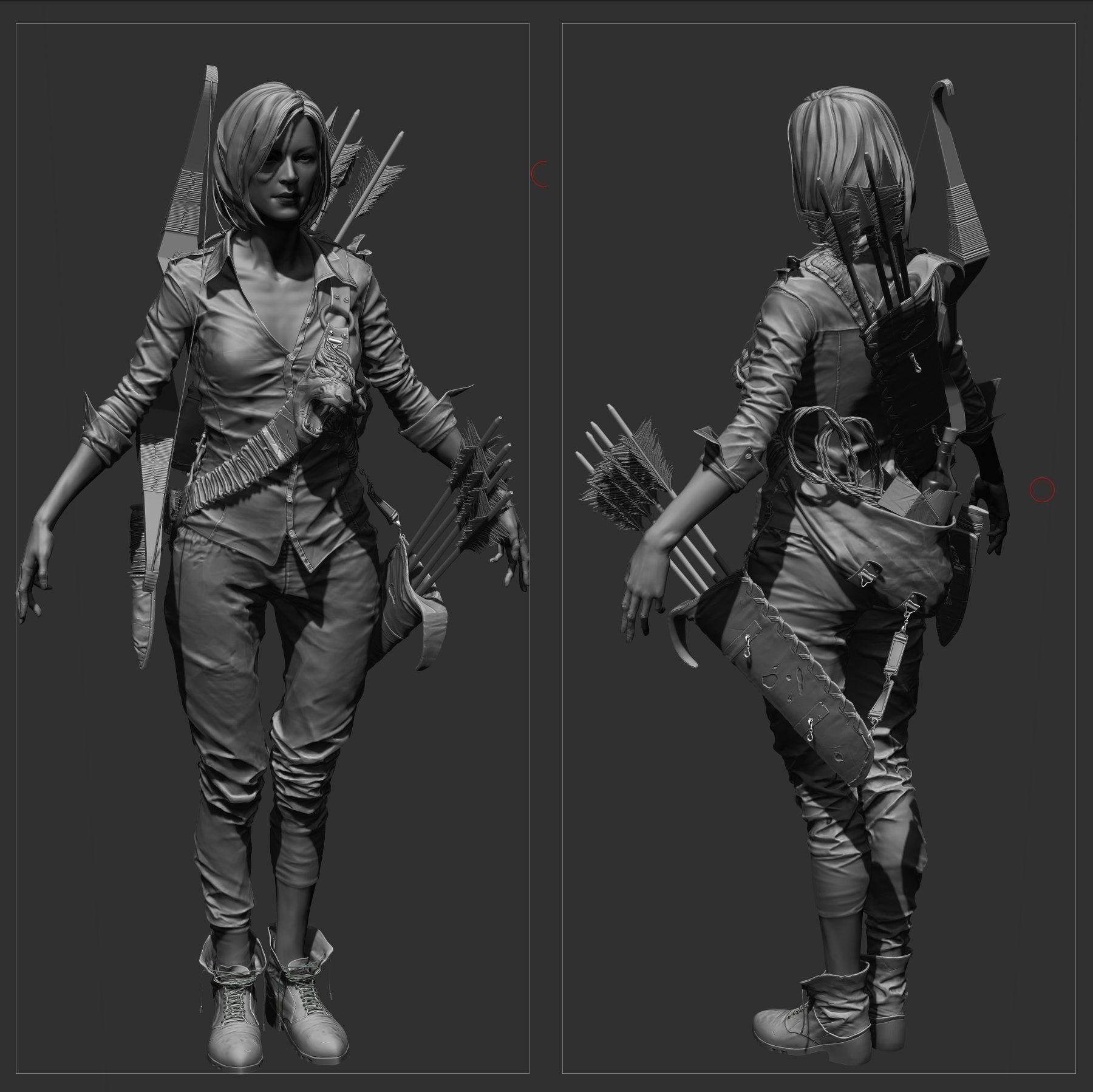 Character Design Zbrush : Artstation archer max zin clothes folds pinterest