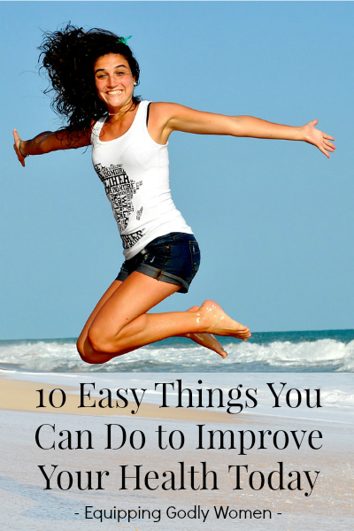 Taking better care of your health doesn't have to be difficult, expensive or time-consuming. Here are 10 easy things you can do to improve your health today!