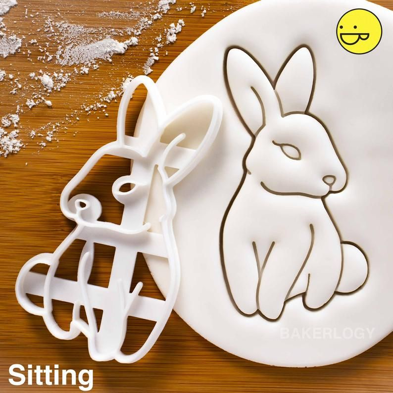Fondant tool Clay kit Unique cookie cutters Polymer clay cutter Cute rabbit cookie cutter Biscuit baking tool Cookie kit