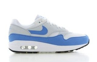 Air Max 1 Wit/Blauw Dames | Air max 1, Air max, Blauw