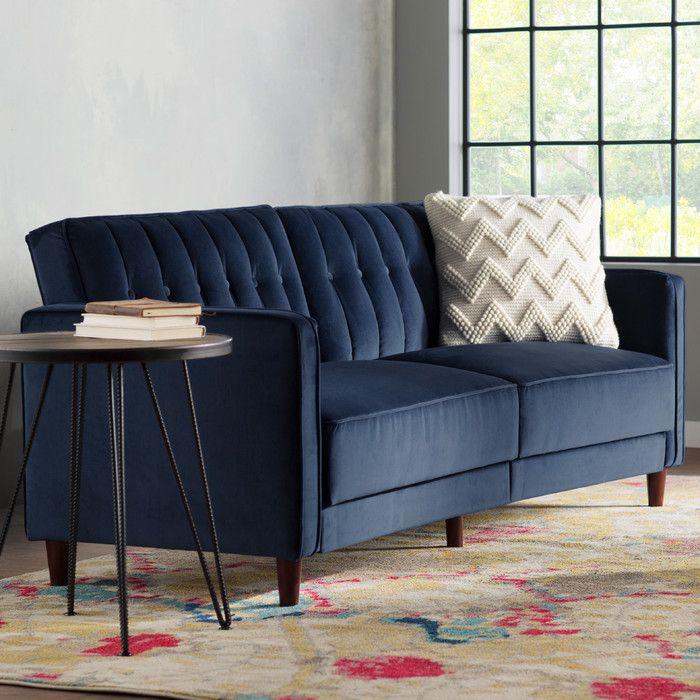 Arwen Pin Tufted Convertible Sofa Reviews Allmodern