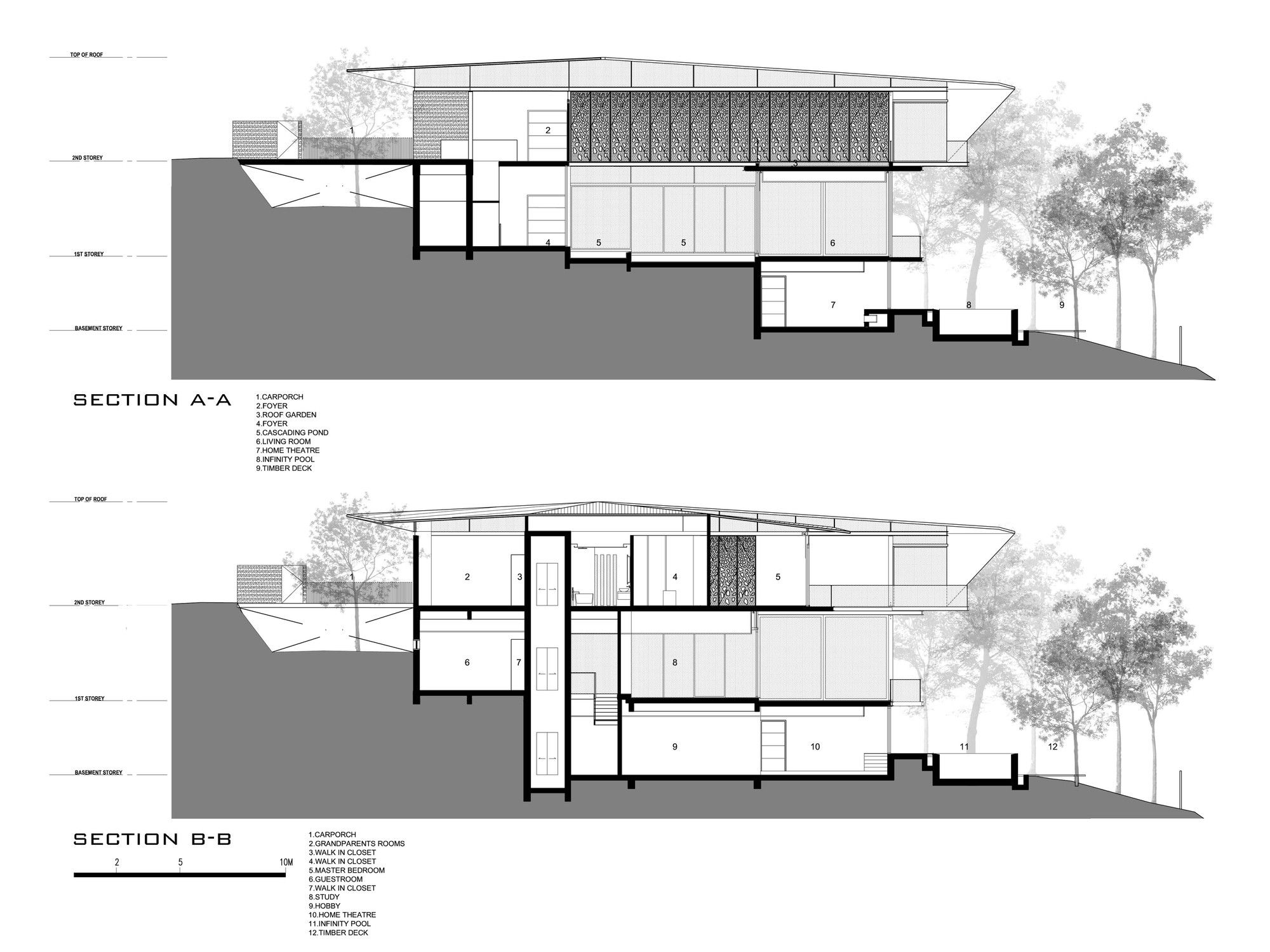 Gallery Of Hillside House Ar43 Architects 15 Hillside House Luxury House Plans Architect