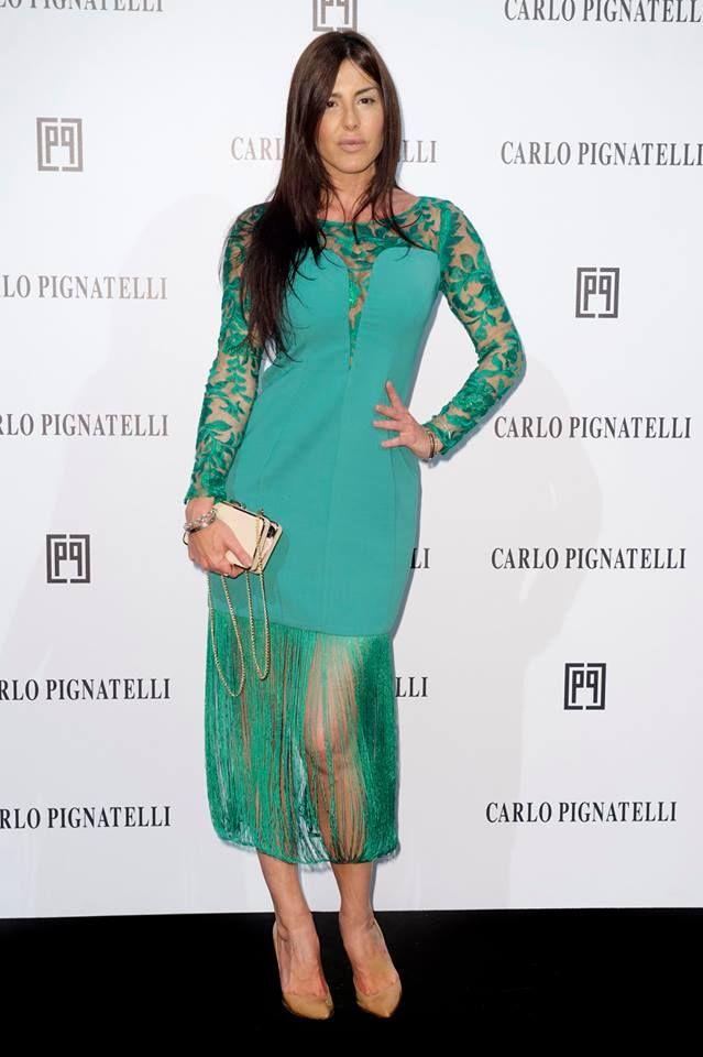 Barbara Francesca Ovieni wearing Carlo Pignatelli  #carlopignatelli #fashionshow #sfilata #hautecouture #photocall #guest #celebrity