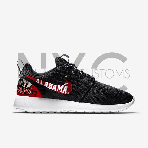 Nike Roshe One Black Alabama Crimson Tide Custom Men & Women