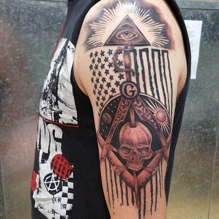 90 masonic tattoos for freemasons video masonic tattoos