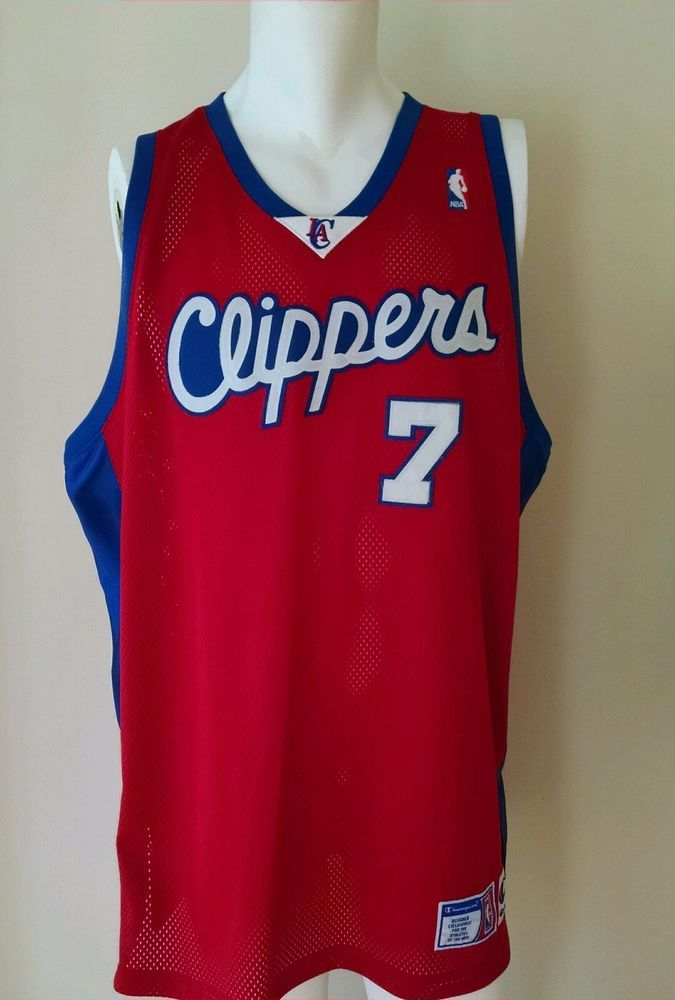 e6709e375c5 Authentic Lamar Odom #7 Los Angeles Clippers NBA Champion Red Jersey Sz 56  3XL #Champion #LosAngelesClippers