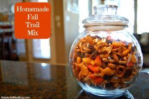 Trail Mix Recipe: Fall Menu Item {Kids Can Cook}