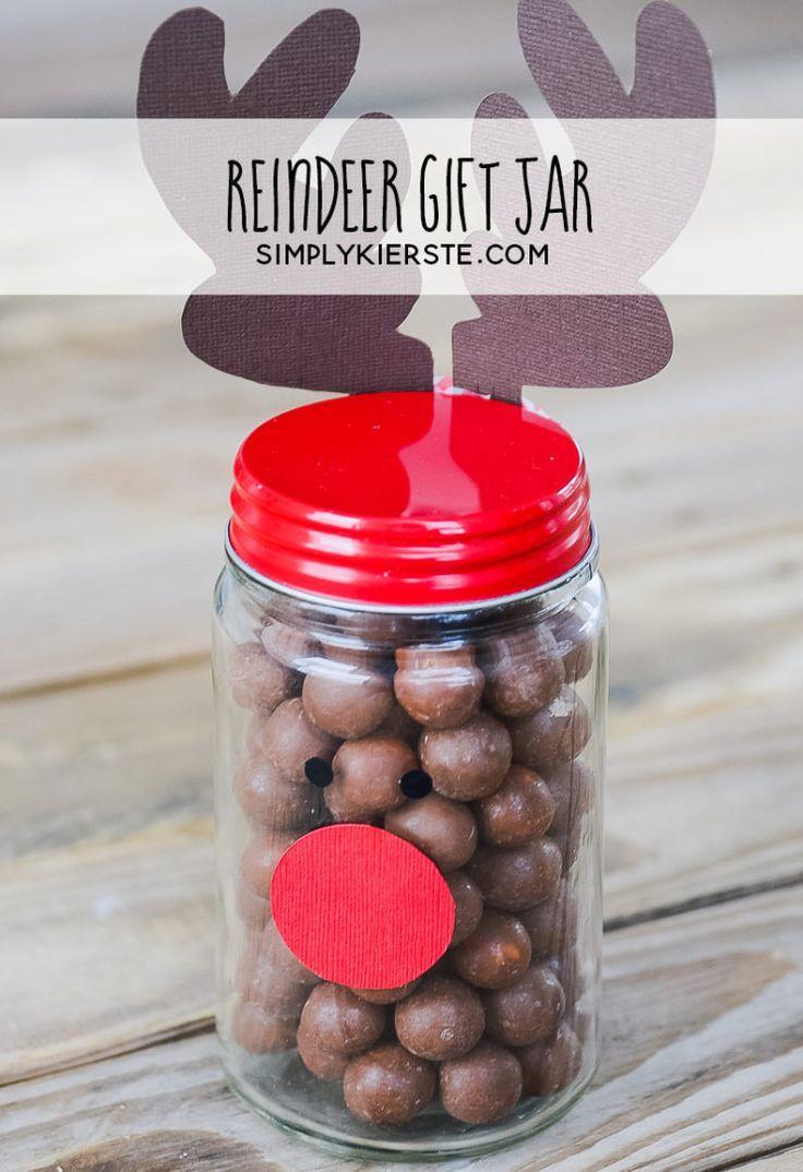 Easy Rudolph Gift Jar | Pinterest | Jar, Easy and Gift